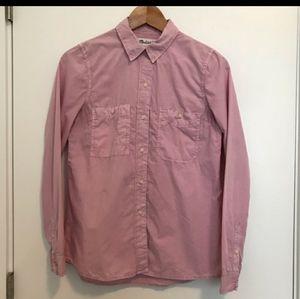Madewell   Washed Cotton Boyfriend Shirt - Pink